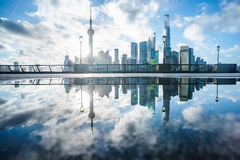 Shanghai skyline panorama in China Royalty Free Stock Images