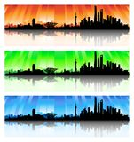 Shanghai Skyline Set. Shanghai City Skyline Silhouette Set artwork royalty free illustration