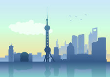 Shanghai Skyline. Silhouette illustration of Shanghai skyline royalty free illustration