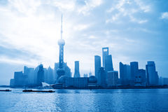 Shanghai skyline at sunrise Royalty Free Stock Image