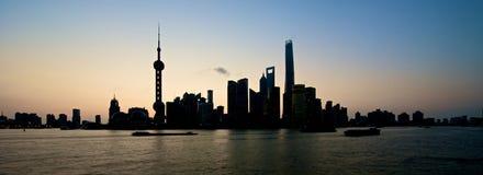Shanghai Skyline at sunrise Royalty Free Stock Photography