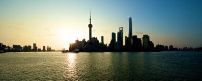 Shanghai skyline sunrise Royalty Free Stock Image