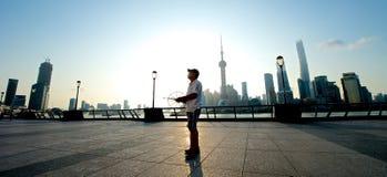 Shanghai Skyline at sunrise Stock Images