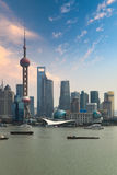Shanghai skyline with sunset Royalty Free Stock Image
