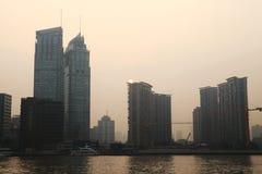 Shanghai skyline at sunset Royalty Free Stock Photo