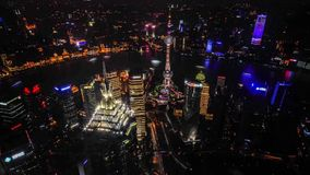 Shanghai skyline. Timelapse of Shanghai skyline, China stock video