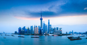 Shanghai skyline view Stock Images
