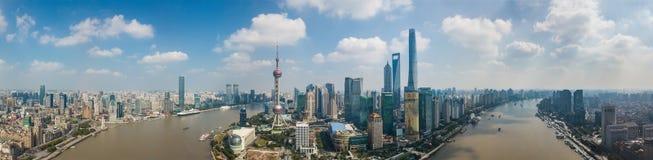 Shanghai-Skylinepanorama Lizenzfreies Stockbild