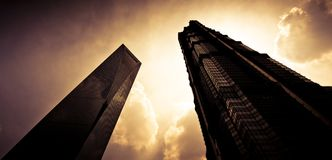 Shanghai skyscraper Royalty Free Stock Photo