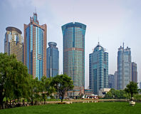 Shanghai skyscrapers Stock Photography