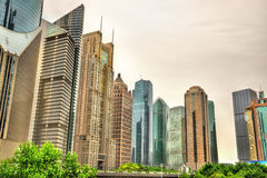 Shanghai skyscrapers at Lujiazui Financial District Stock Photography