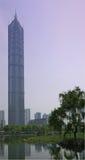 shanghai skyskrapa arkivbilder