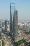 shanghai skyskrapor Arkivfoton