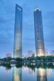 shanghai skyskrapor Royaltyfri Fotografi