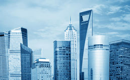 shanghai skyskrapor Royaltyfria Bilder