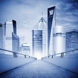 shanghai skyskrapor Arkivbild
