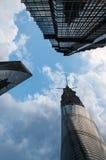 Shanghai skyskrapor Fotografering för Bildbyråer