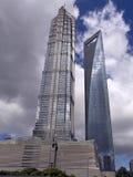 shanghai skyskrapor Arkivbilder