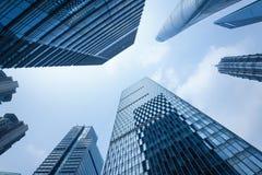 shanghai skyskrapor Arkivfoto