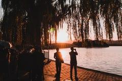 shanghai solnedgång royaltyfri foto