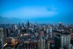 Shanghai soluppgång Arkivfoto