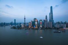 Shanghai soluppgång Royaltyfri Fotografi