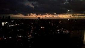 Shanghai-Sonnenuntergang stock video footage