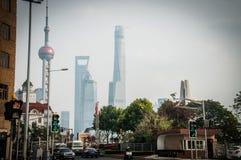 Shanghai stad - skott av Kina Arkivbilder