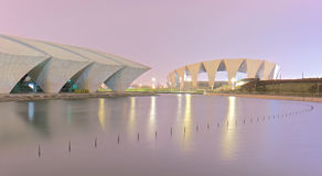 Shanghai stadium. Shanhghai is a huge coaslti city, one of the most modern in the world Stock Images