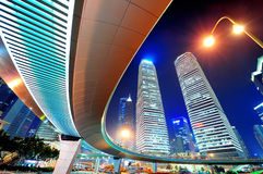 Shanghai stads- gatasikt Royaltyfri Fotografi
