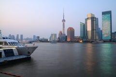 Shanghai-Stadt-Skyline Stockbilder