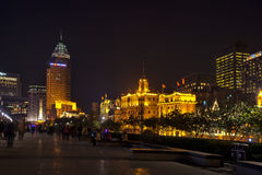 Shanghai street night royalty free stock photography