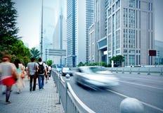 Shanghai street and pedestrian Royalty Free Stock Photos