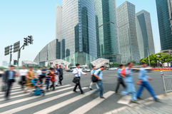 Shanghai street and pedestrian Stock Image