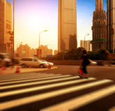 Shanghai street and pedestrian Royalty Free Stock Image