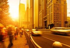 Shanghai street and pedestrian Stock Image