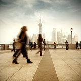 Shanghai street and pedestrian Royalty Free Stock Images