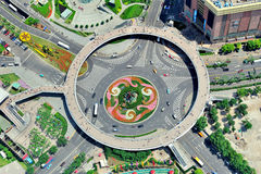 Shanghai street roundabout Royalty Free Stock Photos