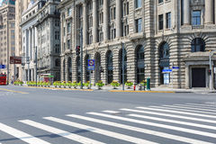Shanghai street scene at the bund Royalty Free Stock Images