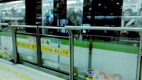 SHANGHAI subway station stock footage