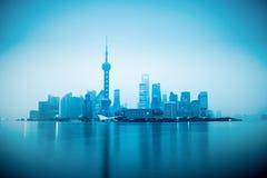 Shanghai with sunrise Royalty Free Stock Images