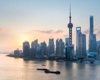 Shanghai in sunrise Stock Photos
