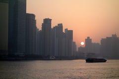Shanghai at sunrise Stock Photo