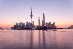 Shanghai sunrise Royalty Free Stock Images