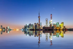 Shanghai sunrise Royalty Free Stock Photo
