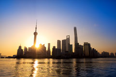 Shanghai at sunrise Stock Images