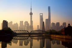 Shanghai at sunrise Stock Photography