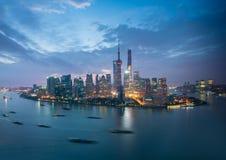 Shanghai at sunrise Royalty Free Stock Photos