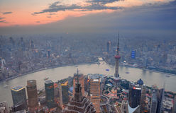Shanghai sunset Royalty Free Stock Photos