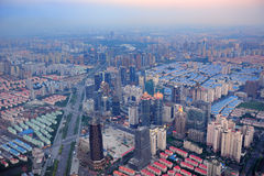 Shanghai sunset Royalty Free Stock Photography